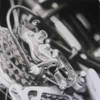 BIKE...drawing by redpoppies