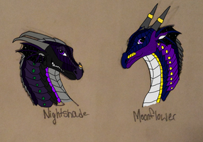 Nightshade and Moonflower (not shaded) by AuroratheIceWing