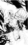 swampthing inks by cliff-rathburn