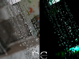 Water Drops: Before and After by transitoryspace