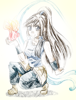Korra Sketch by liferaven