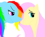 Fluttershy and Dashie by Smoogleberry