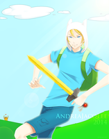 Adventure Time Finn by AndreaJacqLee