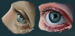 2 Eye Studies by KnavesAndKnots