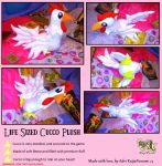 Life Sized Cucco Plush-Legend of Zelda Inspired by KeybladeFoxsquirrel