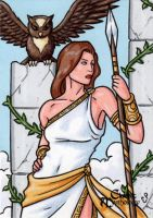 Athena Sketch Card 2 - Classic Mythology by ElainePerna