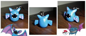 Poke-Peeps Cellphone Charm - Zubat by UniqueTreats