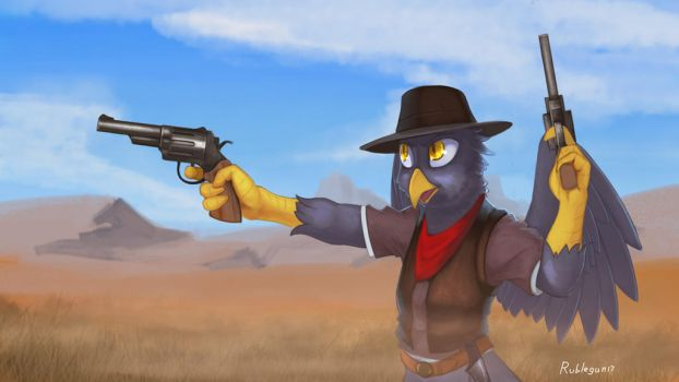 The gunslinger (Commission) by RubleGun