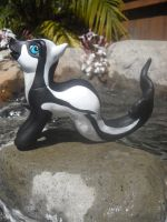 Custom Pony Hourglass Dolphin by aquiafin