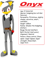 Onyx the hedgehog profile by The-Blonde-Nerd