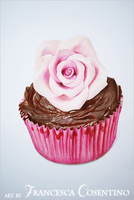 Cupcake with rose by 19Frency94-Art