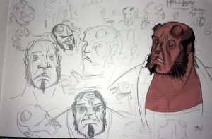 Hellboy sketches by theblastedfrench