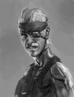 Angry Old Snake Doodle by Butjok