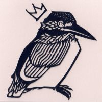 Basquiat Kingfisher by folderol