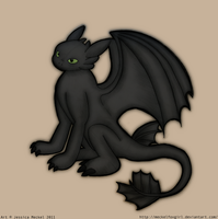 Toothless The Dragon by MeckelFoxStudio