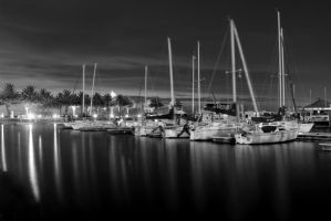 Sanford Marina Black and White by RyanKelly1000