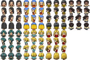 Total Drama RPG Maker Sprites by Flashlight237