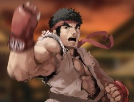 Ryu Speed Paint by nin-mario64