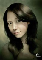 COMMISSION - Portrait of Winda Widiarti by Fihril