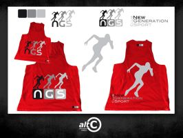 NGS Red Race Shirt by ANOZER