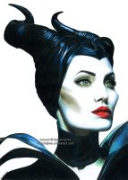 Maleficent (Angelina Jolie) by Ilojleen