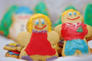 Christmas Cookie People by SublimeBudd