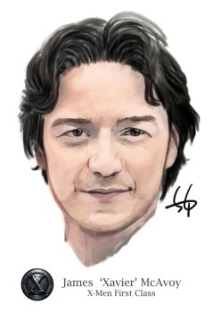 Painting James 'Xavier' McAvoy by gizhel