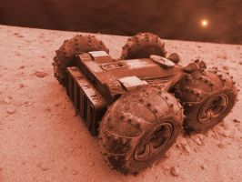 Mars Rover Shuttle Base by skphile