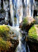 Pond Water Fall 2 by HappyChaoticMelody
