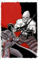 Black Knight vs The Absorbing Man by johnraygun