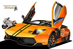yusufbatirel lamborgini 670 sv orange toon by yusufbatirel