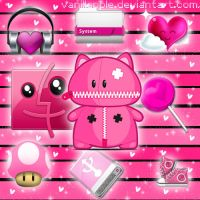 Cute Pink icons pack 1 by VanillApple