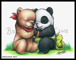Kuma and Panda by Boltonartist