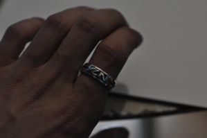 Mass Effect Ring by Worldofjewelcraft