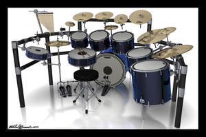 Blue Drums 1 by Thamyris71