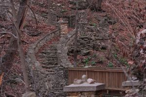 Phelps Park Steps in Fall by mitsubishiman