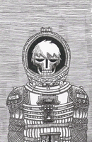 A Skeleton in a Spacesuit by Bonio