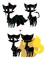 Shadow Cat batch3 :Closed: by PudgyAdopts