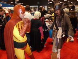 A standoff between Catman and Jack Sparrow by nx20