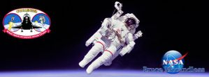 Bruce McCandless Timeline Cover by TimelineAndWallpaper