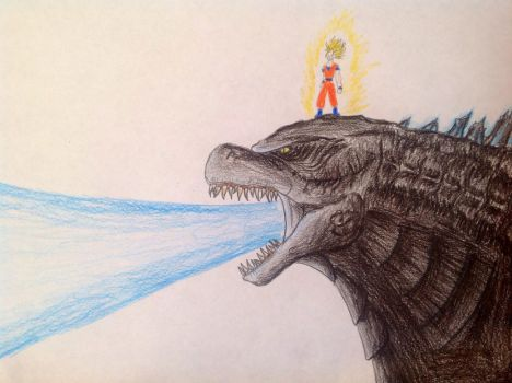 Dragonball Z Crossover with Godzilla 2014 by Kongzilla2010