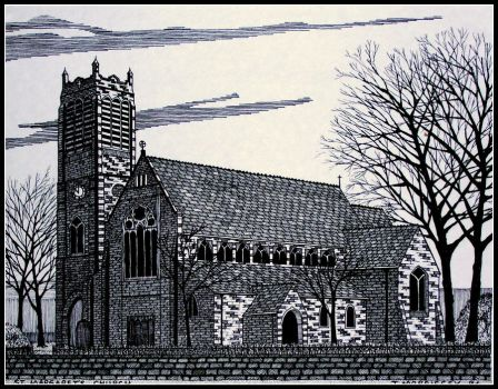 ST MARGARET'S CHURCH OLDHAM by PENANDINKDRAWINGS