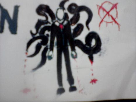 Slenderman's tentacles by klebers