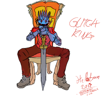 The Glitch King Starbound Character by Anarchy-1-0-1