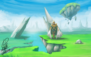 Old Quest in Landscape II by Orphenoch
