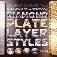 Diamond Plate Layer Styles by Romenig