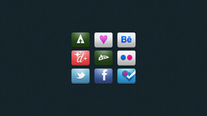 Social and Design Icons by LewisBell