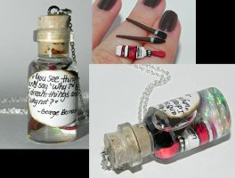 Artist's Bottle Necklace by Secretvixen