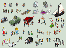 UNIQLO pixel people by unusable