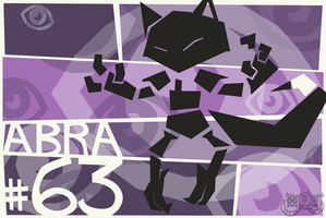 Abra Card Art by Concore